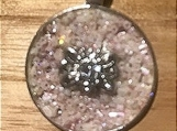 Necklace slide - light pink sparkle