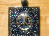 Necklace slide - multi color sparkle
