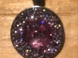 Necklace slide - pink/purple sparkle