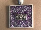 Necklace slide - purple sparkle