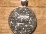 Necklace slide - silver sparkle