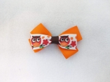 Orange Owl Hair Clip