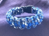 Paracord bracelet blue camo
