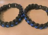 Paracord bracelet - blue line