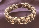 Paracord bracelet brown camo