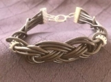 Paracord bracelet brown leather Celtic