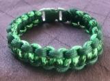 Paracord bracelet dark green camo
