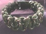 Paracord bracelet dark green/brown camo