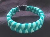 Paracord bracelet fishtail turquoise