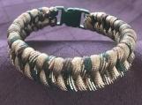 Paracord bracelet green camo fishtail