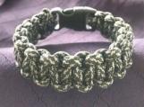 Paracord bracelet green/white camo