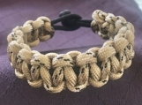 Paracord bracelet khaki camo