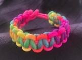 Paracord bracelet neon pink