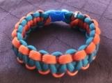 Paracord bracelet orange/blue