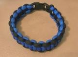 Paracord bracelet- thin blue