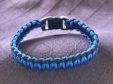 Paracord bracelet blue/black