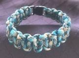 Paracord bracelet turquoise camo