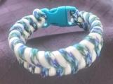 Paracord bracelet turquoise fishtail