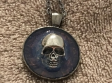Pendant Necklace Antique Silver Skull #3059