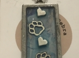 Pendant Necklace Paws & Hearts #3062