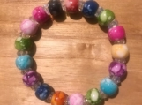 Plastic beaded stretch bracelet