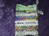 Small Rag Rug Bag in Blue and Green