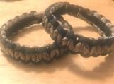 Survival bracelet - black and camo