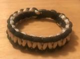 Survival bracelet - black/beige