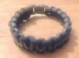 Survival bracelet - navy and gray