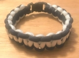 Survival Bracelet - navy/white