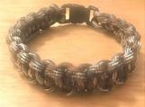 Survival bracelets - brown/silver