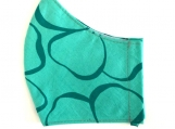Turquoise Green Print Mask