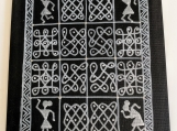 Warli and Rangoli fusion art on canvas