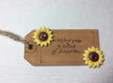 Wishing you a slice of happiness Wooden Gift Tag