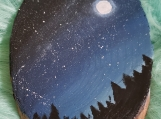 Wooden Nightsky Display Paintings