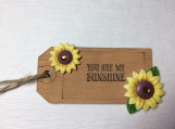 Wooden gift tag Flower