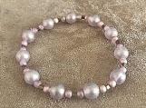 Bracelet - pink glass