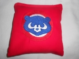 Chicago Cubs Red  Embroidered  Corn hole Bags