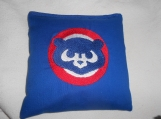 Chicago Cubs Blue  Embroidered  Corn hole Bags