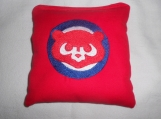 Chicago Cubs Red Cubs Face Embroidered  Corn hole Bags