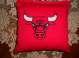 Embroidered Chicago Bulls Corn Hole Bags
