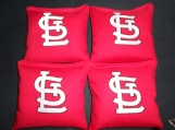 Embroidered Set of 4 St. Louis Cardinals Corn hole Bags