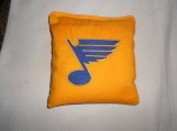 Gold Embroidered St Louis Blues  Hockey Corn hole Bags