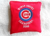 Embroidered World Series Red  Chicago Cubs Corn hole Bags