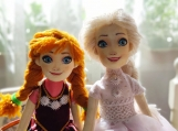Hand-Crafted Dolls - Sisiters Anna and Elsa