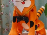 Hand-Crafted Toy Funny Cat