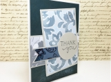 Handmade Thank-You Card in Blue-Grey