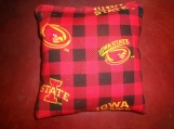 Iowa State Red Square Corn hole Bags