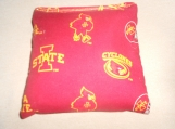 Red Iowa State Corn hole Bags
