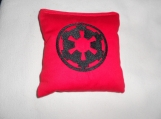 Red and Black Star Wars Imperial  Embroidered  Corn hole Bags